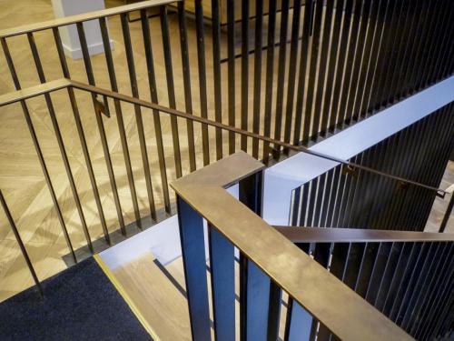 Steel & Brass Balustrade - Blackfriars