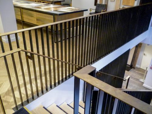 Steel & Brass Balustrade - Blackfriars