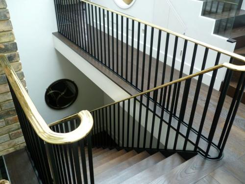 Steel Staircase Wooden Treads | Elm Park Road