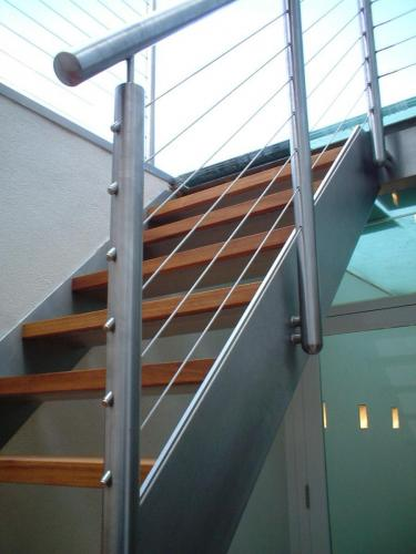 Stainless steel staircase and balustrade - Fulham