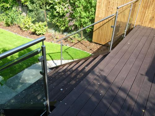 Stainless Steel and Glass Balustrade - Hendon