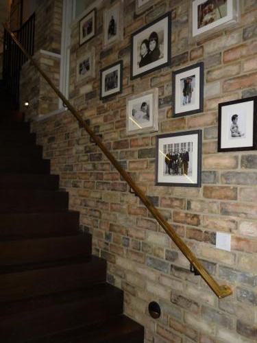 Steel Balustrade Brass handrail | Kensington