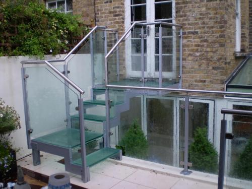 Glass Staircase installation in Chelsea